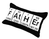 Father Black Cotton Chemistry Periodic Table Element Pillow