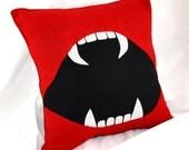 Vampire Fang Bite Me Pillow