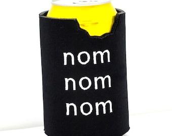 nom nom nom Houseware Can Cozy-Black Neoprene- Bite missing