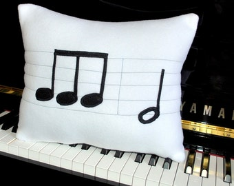 Beethoven 5th Symphony Note Fleece Pillow