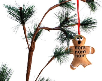 Christmas ornament - nom nom nom Gingerbread man