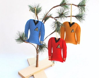 Star Trek 3 Piece Christmas Ornament Set