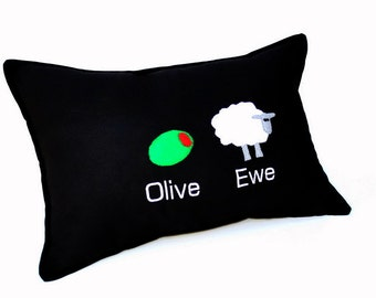 Funny Valentine Pillow- I Love You - Olive Ewe Humorous Pillow