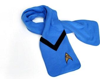 Blue Star Trek Science Officer Fleece Scarf