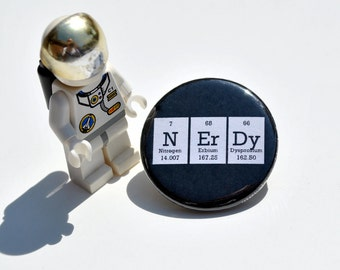 Nerdy Periodic Table Button / Pin