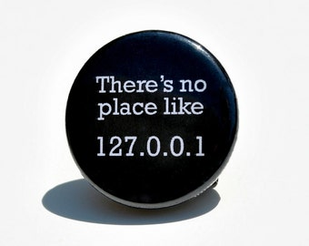No Place Like home Button Pin