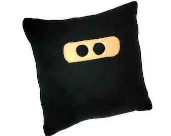 Ninja Black  Fleece Novelty Pillow