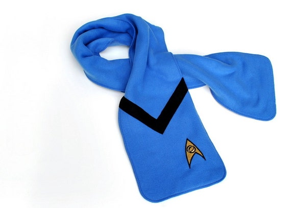 Blue Star Trek Science Officer Fleece Scarf
