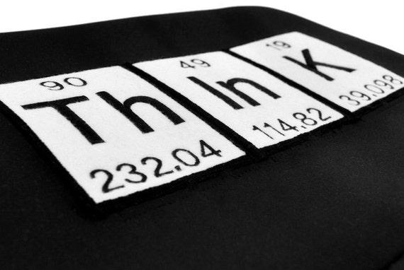 "Laptop Case- 13"" Black Neoprene Think Periodic Table"