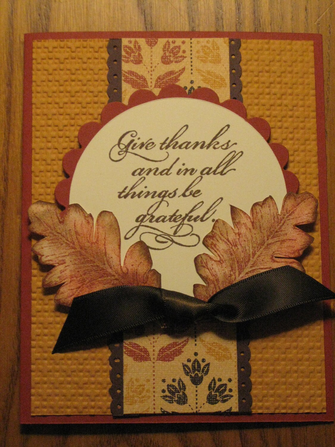 handmade thanksgiving fall blessings card leaves leaf mom dad