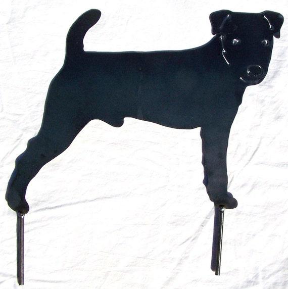 Jack Russell Terrier Art Metal Yard Stake