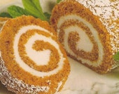 DIY Recipe Pumpkin Roll--PDF Format