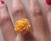 Orange Rose Adjustable Ring