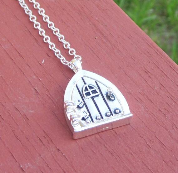 Silver Fairy Door Necklace