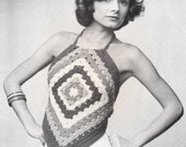 Vintage Granny Halter Top PDF Pattern
