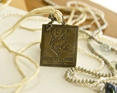 Julia Cameron Bronze Quotation Pendant Leap and the Net Will Appear