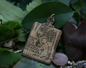 Drink life as it comes...No chasers Quotation Necklace Handmade Pendant in Bronze or Sterling Silver