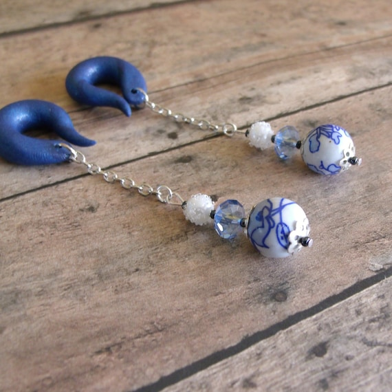 Cottage Blues Gauged Earrings