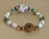 Millefiore Vintage Bead Bracelet