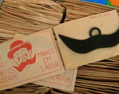 Vintage - Gay 90s Mustache - Made in Japan (Qty 1-Sealed Paper Envelopes-1 Mustache in each pack)-Movember