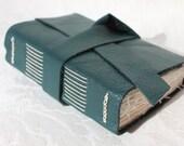 Teal - Handmade Notebook or Journal - Hand Sewn