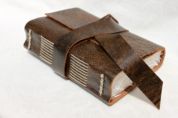 The Rugged Journey - Handmade Blank Book for the Writer or Artist - Leather