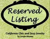 RESERVED LISTING - For Alessandra