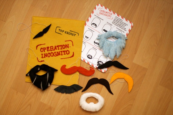 Operation Incognito Mustache and Beard Set
