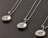 Letter Necklace - Solid Sterling Silver
