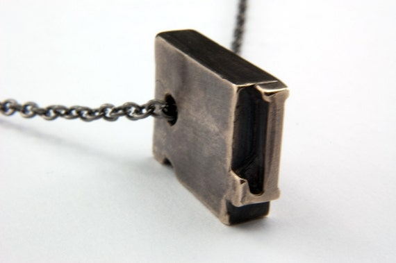 Initial Letter L- Bronze Letterpress Necklace or Keychain - Personalized - Other Letters Available GDJ Fashion Jewelry
