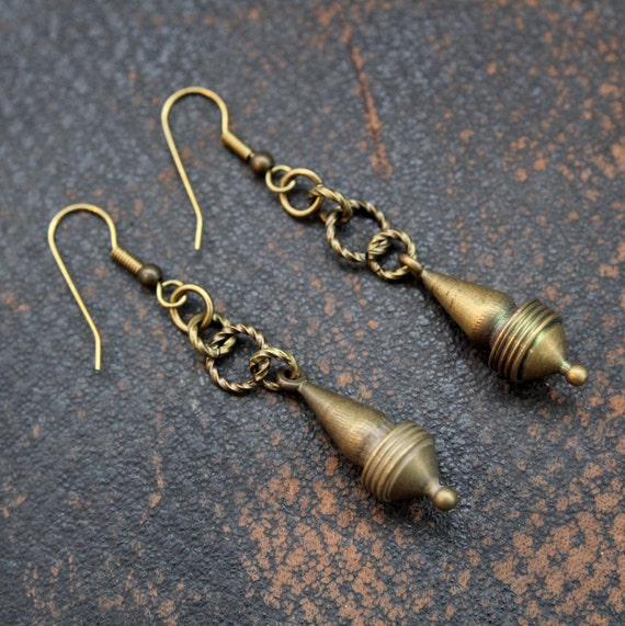 Brass Vintage Earrings