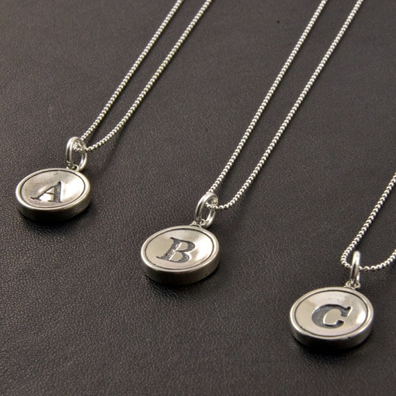 Sterling Silver Initial Jewelry