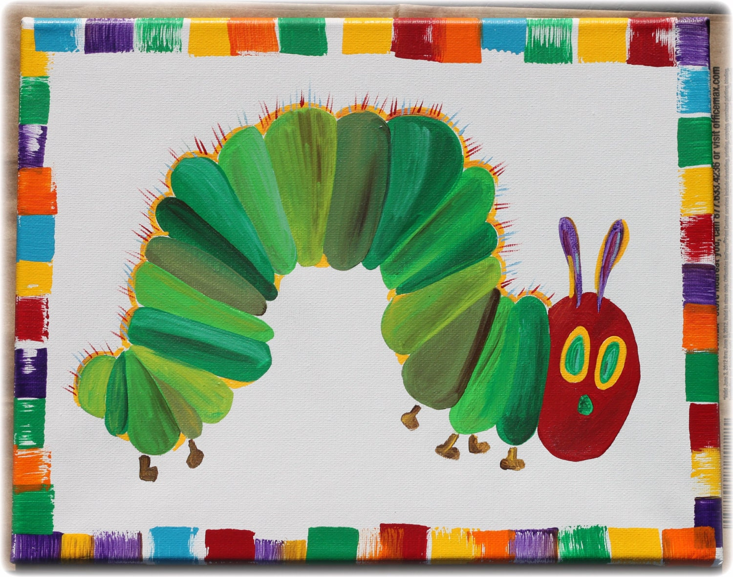 The Very Hungry Caterpillar and butterfly by Momyslittleartcorner