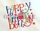 Happy Birthday Block 1- Instant Download Machine Embroidery Design