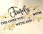Family Live With Laugh With Love With Home Decor- Instant Email Delivery Download Machine embroidery design