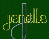 Jenelle Monogram Set- Machine Embroidery Font Alphabet Letters  -  Instant Email Delivery Download  design