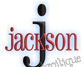Jackson Monogram Alphabet Font - Great for Boys, and Girls Too- Instant Email Delivery Download Machine embroidery design