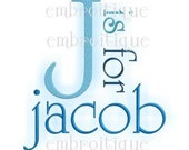 Jacob Monogram Set - great for boys -  Instant Download -Digital Machine Embroidery Design