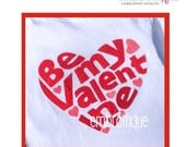 Be My Valentine Heart - Instant Email Delivery Download Machine embroidery design