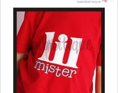 Lil Mister Little Brother Sibling Applique- Instant Download -Machine Embroidery Digital File