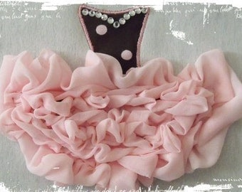 Shabby Sweet Ruched Tutu Applique- Instant Download -Digital Machine Embroidery Design