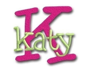 Katy Monogram Set- Machine Embroidery Font Alphabet Letters  - Instant Email Delivery Download Machine embroidery design
