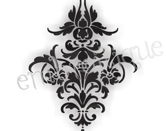 Damask Flourish 3- Instant Email Delivery Download Machine embroidery design