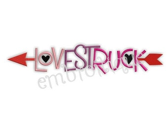 Love Struck Valentine's Day Embroidery Design- Instant Email Delivery Download Machine embroidery design