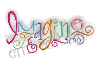 Imagine Embroidery Design- Instant Email Delivery Download Machine embroidery design