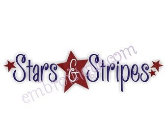 Stars and Stripes 4th of July America - Instant Download -Digital Machine Embroidery Design