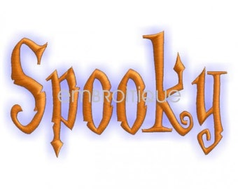 Halloween Spooky Monogram Font Set- Machine Embroidery Font Alphabet Letters  - Instant Download Machine design