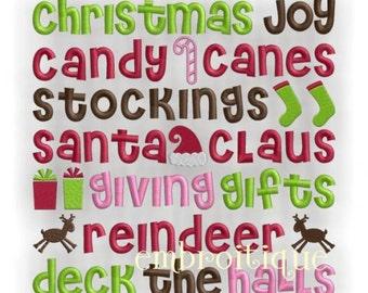 Christmas Joy Word Block - Instant Download -Digital Machine Embroidery Design