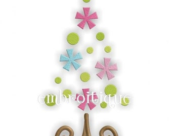 Whimsical Doodle Christmas Tree Design- Instant Email Delivery Download Machine embroidery design