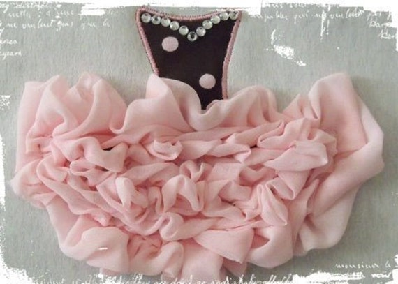 Shabby Sweet Ruched Tutu Applique- Instant Email Delivery Download Machine embroidery design